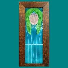 Art Nouveau Tile Panel in A & C's Frame