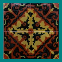 California Arts & Crafts Tile panel