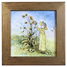 Minton Hollins Hand Painted Tile 1886