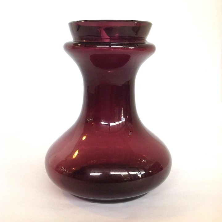 Hyacinth Purple Glass Vase Antique Antiques Of River Oaks Ruby Lane