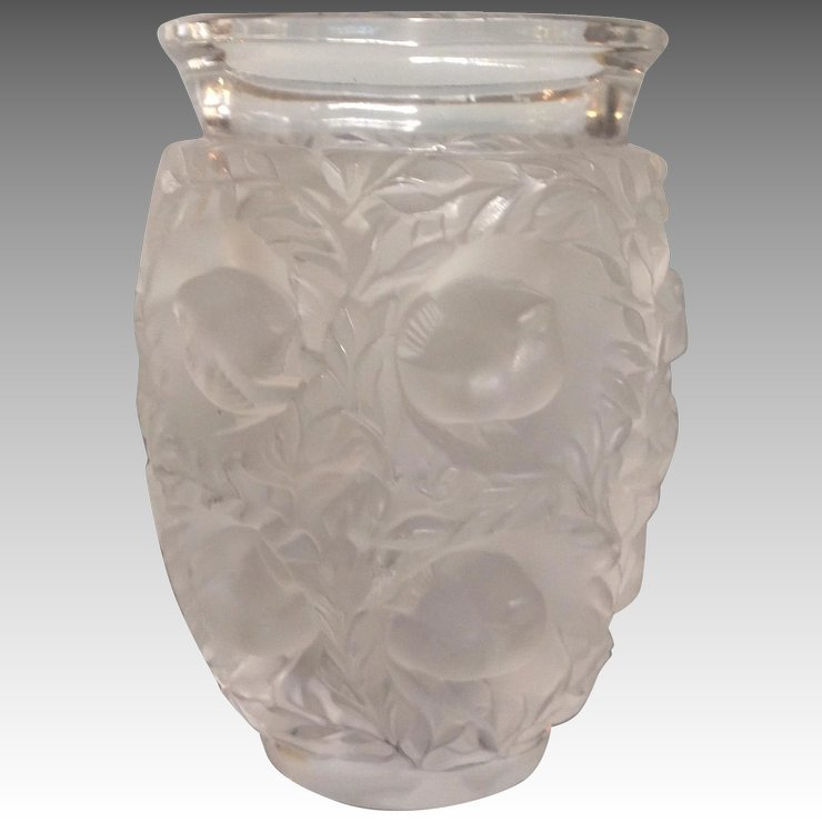 Lalique Bagatelle Vase Birds And Leaves 675 Antiques Of River
