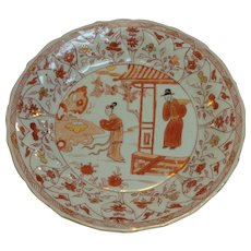Chinese Export Chinoiserie Plate 1750's