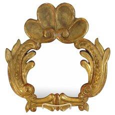 Gilt Wood Mirror Italian Carved