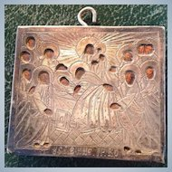 Russian Silver Icon Antique pectoral