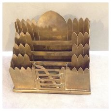 Brass Letter Holder - Like a Picket Fence - English 19th C
