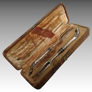 Boxed Stag Handle Silver Forks