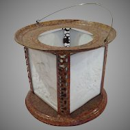 Lithophane Lamp Four Panels 19th c.