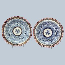 """Royal Lily by Royal Worcester Pair Scalloped Dessert Plates 7 5/8"""""""