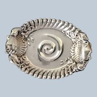 "Ocean Dish Whiting Sterling 5 1/4"" Shell Coral 1900"