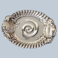 """Ocean Dish Whiting Sterling 5 1/4"""" Shell Coral 1900"""