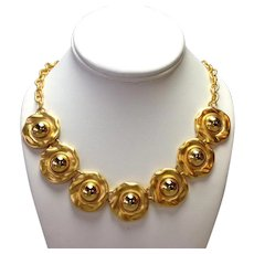 Gold Fashion Necklace Heavy Goldplate Great Travel Jewelry