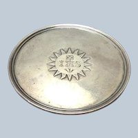 English Paten Sterling Silver William IV