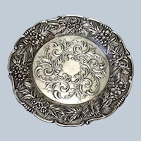 S. Kirk & Son Floral Butter Butter Pat Repousse-Full Chased-Hand Chased by KIRK STIEFF