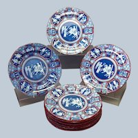 "Group of 12 Spode Greek 8"" Luncheon Plates"