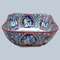 Fruit Bowl Spode Greek Clobbered Circa 1805