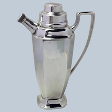 Cocktail Shaker Sheffield Silver Plate 9 1/2""