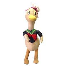 "Donald Duck Walt Disney Knickerbocker 13"" Great Condition"