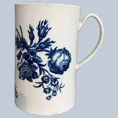 """Dr. Wall Worcester Flowers & Butterfly Mug Tall  6"""""""