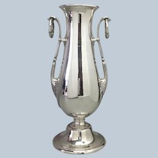 "Gorham Vase  13 1/4"" Sterling Ring Handles"