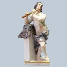 Meissen Musician Figure Flute Early 19th c.