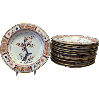 "Dozen Spode Tree of Life Dessert Plates #282 Circa 1800's  7 5/8"""