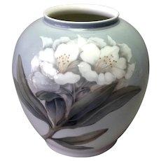 "Royal Copenhagen Orchid Grey Blue Vase 8 1/4"""