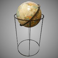 Paul McCobb World Classic Series Globe on Modern Iron Stand