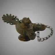 Antique Bronze Mouse Cigar Lighte