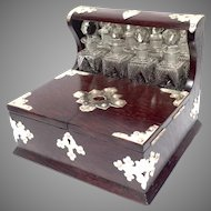 Perfume Tantalus and Jewelry Box Silver Mounts Late 19th C.