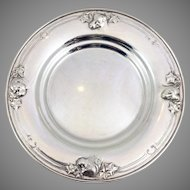 Howard And Co. Sterling Puppy Child's Plate