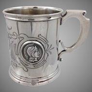 Albert Coles Medallion Coin Silver Cup c.1860