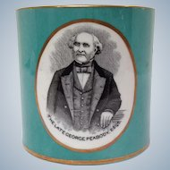 George Peabody Ceramic Historic Mug 19th c.