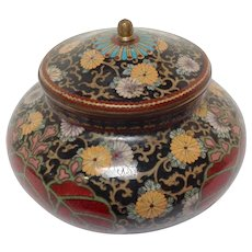 Japanese Cloisonne Covered Jar 19th c