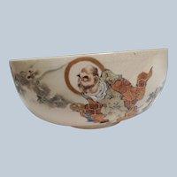 Antique Satsuma Rice Bowl Goblin