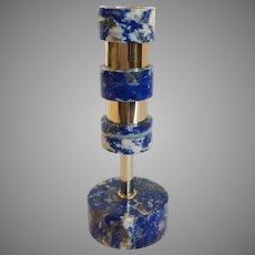 Tiered Lapis Lazuli Candlestick