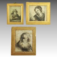 Three Dutch Etchings by Jean Chalon c. 1790