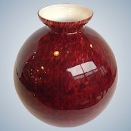 Czech Glass Red Ball Vase