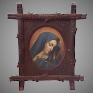Painting Andrea del Sarto Carved Branch Frame 19th c