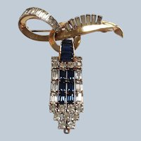 Mazer Pin With Hanging Pendant