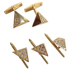 Diamond Pyramid Stud Set 14k