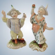 Pair of Nymphenburg Chinoiserie Children Antique