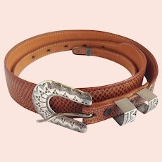 Max Lang Belt With Pawn Silver Buckle
