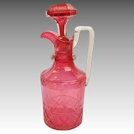 Ruby Cut Glass Decanter English