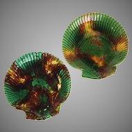 Wedgwood Tortoise Glaze Clam Shell Plates Set of Eight