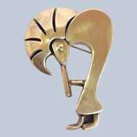 Vandever Dancer Pin or Pendant Sterling Signed