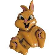 Disney Thumper Bakelite Pin 1940's