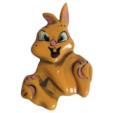 Disney Thumper Bakelite Pin 1940's