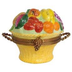 Limoges Fruit Basket Trinket Box by Chamart