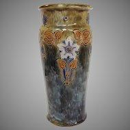 "Royal Doulton Floral Tall Lambeth Vase 12"""