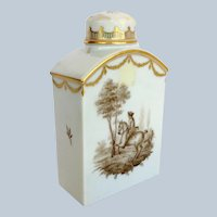 Royal Copenhagen Horse Rider Porcelain Tea Caddy